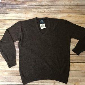 Jantzen Vtg Men's Brown V Neck Sweater